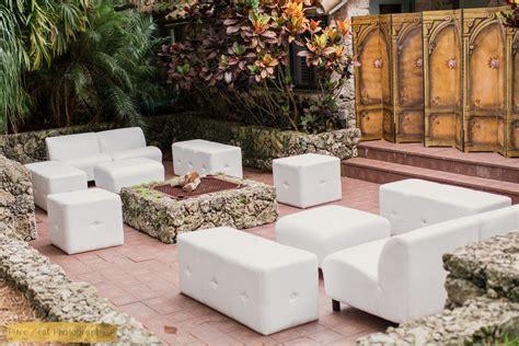 white lounge furniture wedding rentals