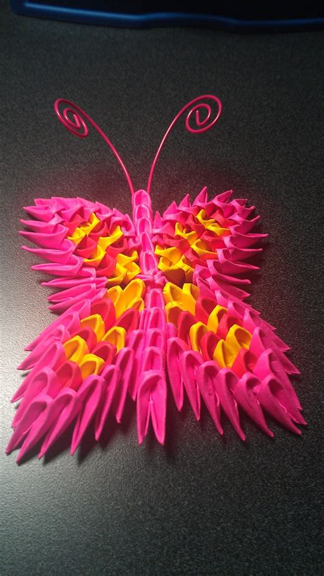 Origami 3d Butterfly - 3d origami butterfly by icekatana on deviantart