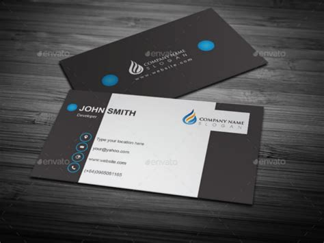 plain business card template ai 45 cool business cards psd eps illustrator format