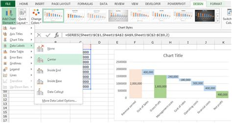 free tutorial excel 2010 charts waterfall chart excel 2010 add in free excel waterfall