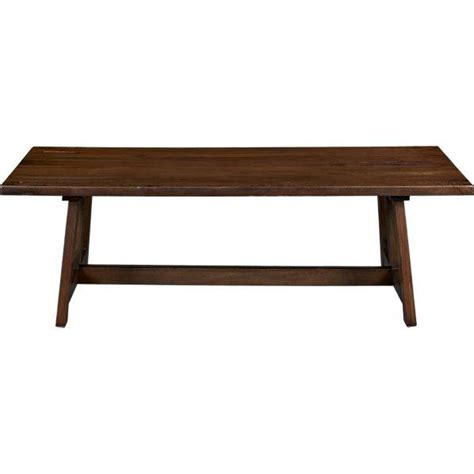 crate and barrel dining bench phoenix 92 quot dining table i crate and barrel