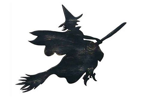 flying witch decoration flying witch wall decor black