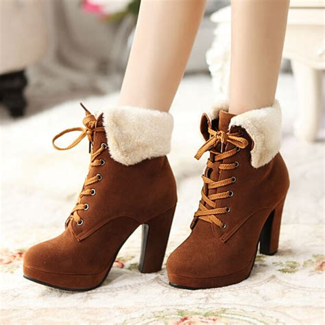 Mm Sweet Lace fashion sweet lace up high heeled boots 183 fashion