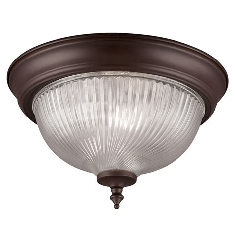 Bronze Ceiling Light Shop Project Source 11 In W Painted Rubbed Bronze Flush Mount Light At Lowes