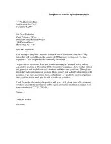 Probation Officer Cover Letter by Probation Officer Cover Letter Sle Best Letter Sle