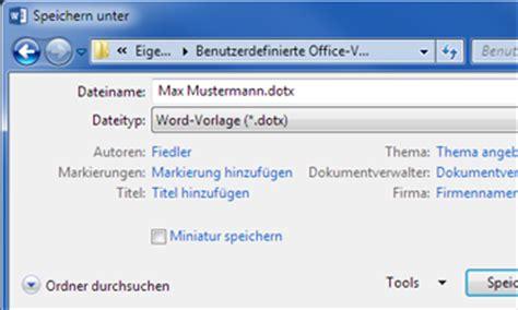 Vorlage In Word 2013 Speichern So Geht S Word 2013 Vorlagen Speichern