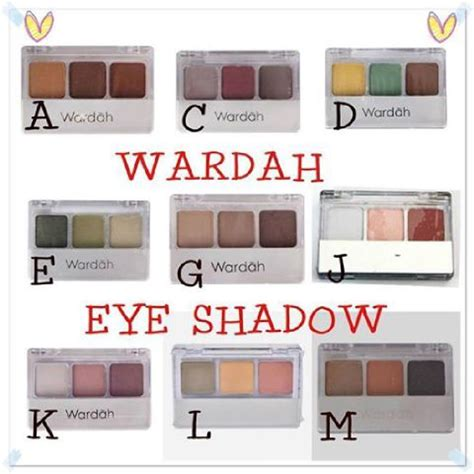 Warna Eyeshadow Wardah Seri I jual eyeshadow 3 in 1 wardah r z olshop