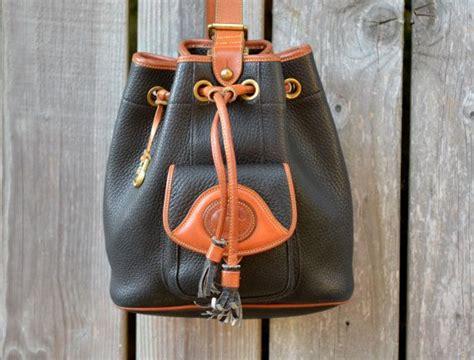vintage dooney bourke black drawstring sling purse buckets purses and dooney bourke