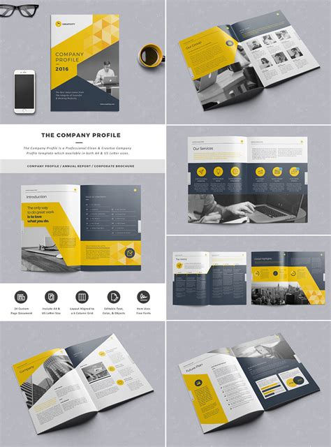 the company profile indesign template graphic design
