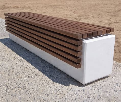 Mobilier Urbain Banc Beton by Banc B 233 Ton Assise Bois Lithos R 233 Sidence Collective