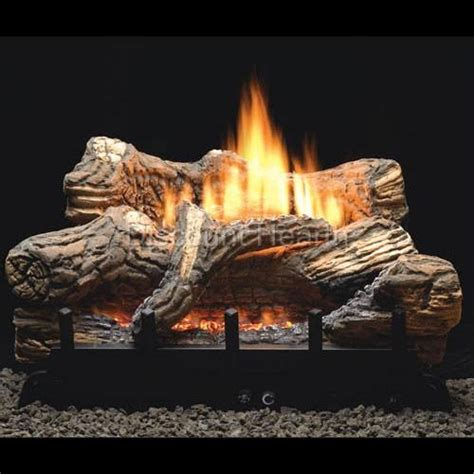 flint hill 18 24 30 vent free fireplace gas logs complete