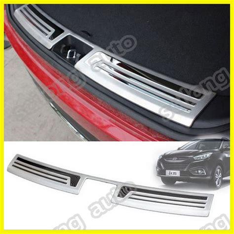 Rear Bumper Guard Sill Plate Belakang Hyundai H1 Fitt Thailand stainless steel rear bumper protector sill trim plate