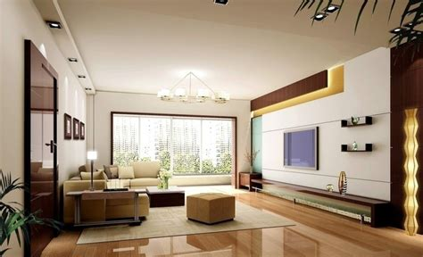Luxurious living room with tv wall and glossy wooden floor ipc378 lcd wall unit design for