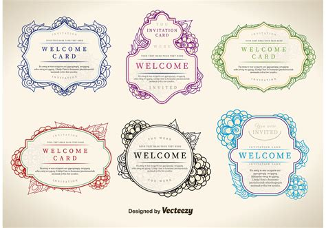 bathroom design template floral welcome label vectors download free vector art