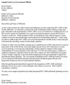 letter to government official for excel pdf and word