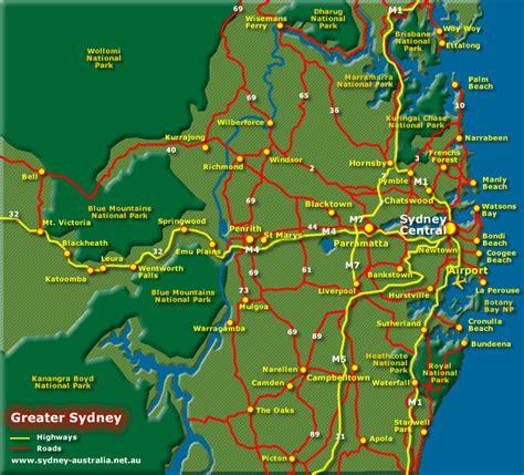 sidney australia map greater sydney australia tourist map sydney australia