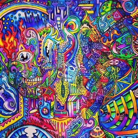 trippy colors trippy skull trippy colors skull neon