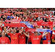 The Liverpool Fans Shows Their Support For Side During Septembers