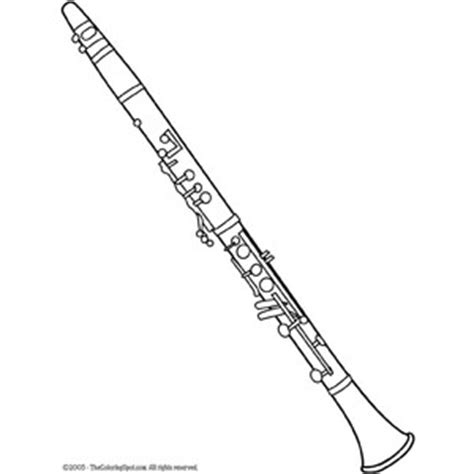 clarinet printable coloring page colouring sheet polyvore