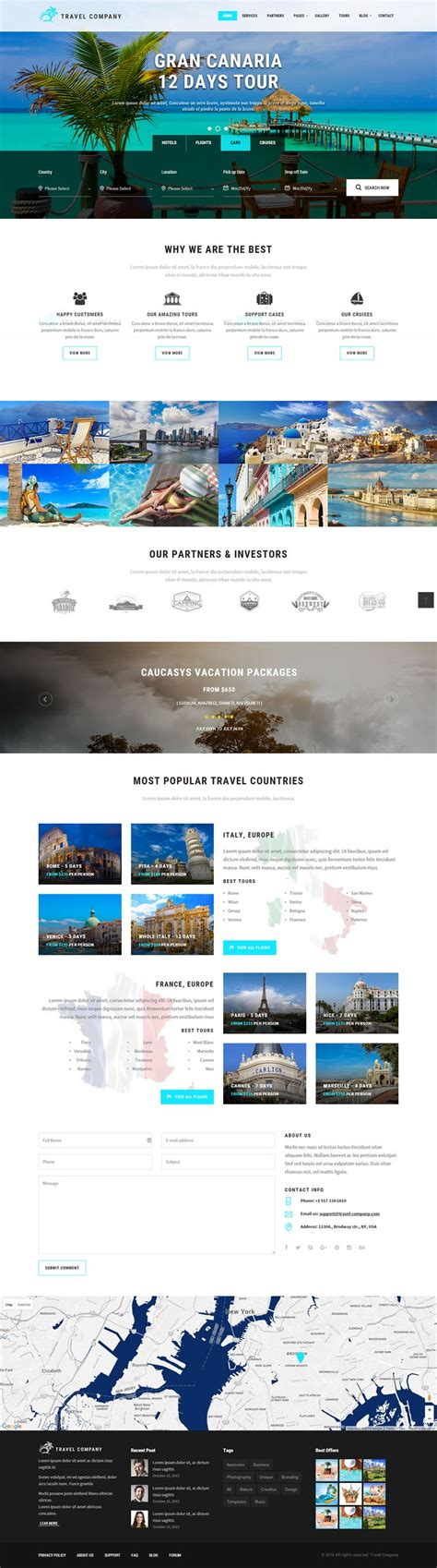 pinterest layout bootstrap travel company responsive parallax template bootstrap