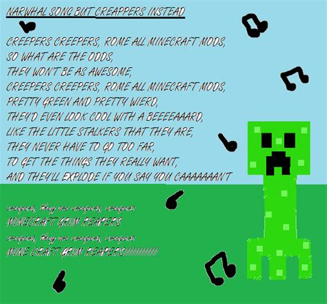 lyrics creeper narwhal song creepers by lozgirlxp on deviantart