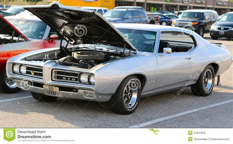 general motors pontiac division gto pontiac 1969 silver editorial photography image of