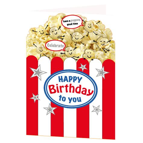 greetings to popping time birthday card greeting cards
