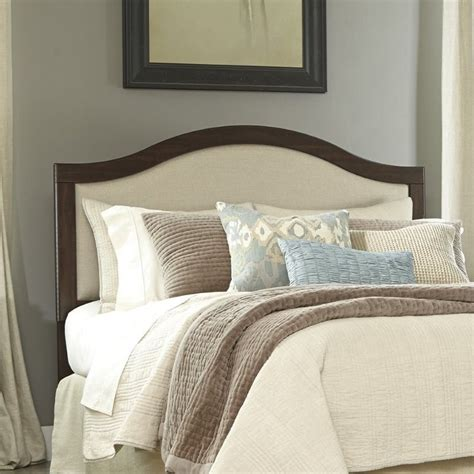 brown upholstered headboard ashley corraya upholstered queen panel headboard in brown