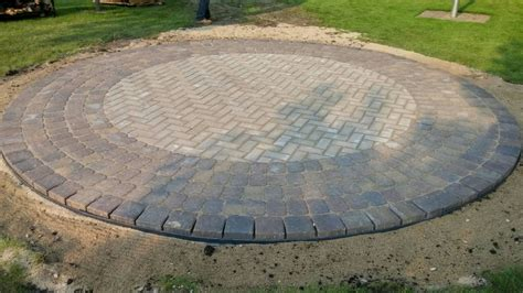 Circular Patio Pavers Paver Sidewalks Patios Landscaping Alexandria Mn