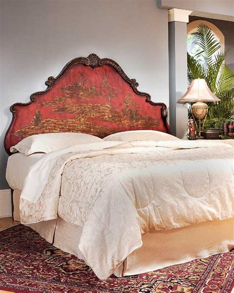 hand painted headboards butler red chinoiserie hand painted king headboard bt
