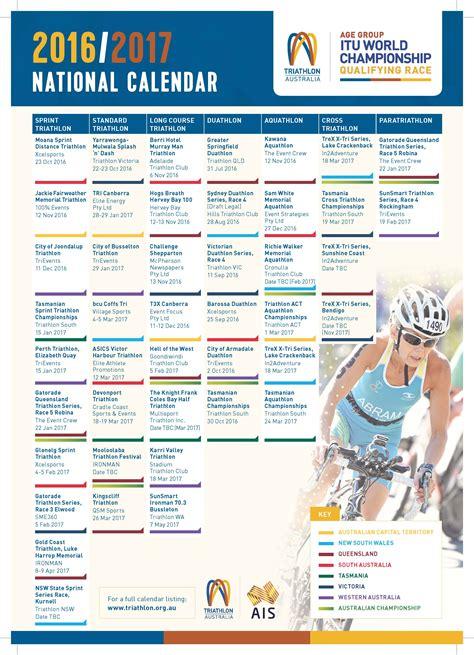 National Calendar Triathlon Australia Has Announced Their National Calendar