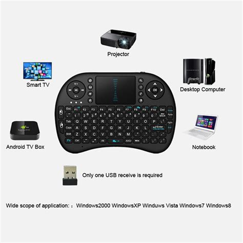 Keyboard Wireless Untuk Android promo keyboard wireless mini 2 4g dilengkapi dengan touchpad untuk android tv shopee indonesia