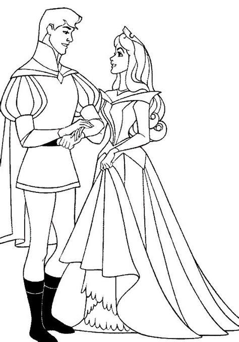 Princesa Bela Adormecida - Desenhos preto e branco para
