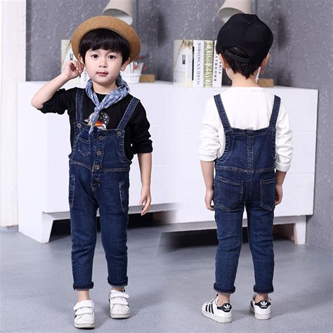 Jumpsuit Anak S new arrival 2016 baby boys overalls fashion korean children clothes baby denim overalls
