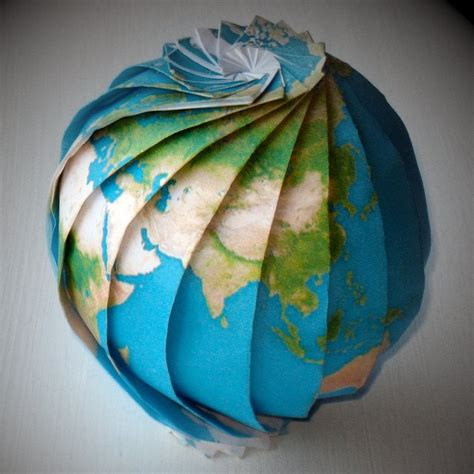 How To Make A Paper Globe - fancy origami earth