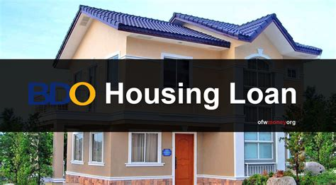 housing loan bdo banco de oro how to process loan step by step
