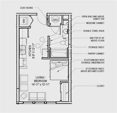studio floorplan studio apartment a studio 531 studio and 1 bedroom