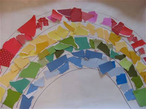 Crafts With Scrap Paper - paper scrap rainbow family crafts