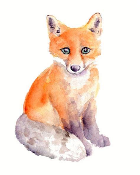 google images fox watercolor fox google search canvas pinterest