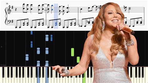 all i want tutorial piano mariah carey all i want for christmas is you advanced