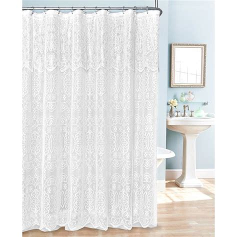 white lace shower curtain with valance 17 best ideas about lace shower curtains on pinterest