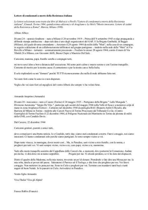 lettere di condannati a morte della resistenza europea lettere di condannati a morte della resistenza italiana