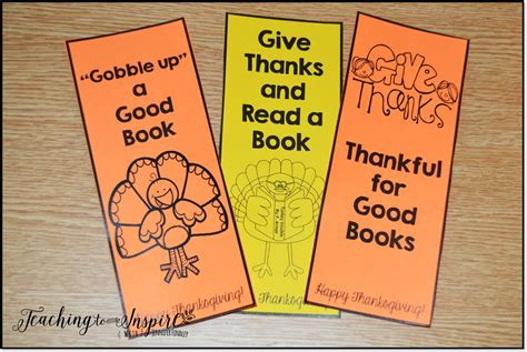 printable bookmarks for elementary students thanksgiving activities for upper elementary teaching to