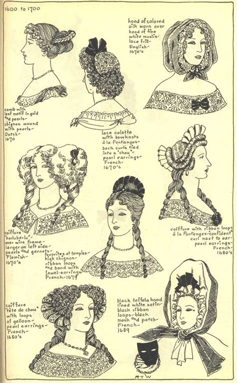 17th century hair styles 17thcenturyhats hair hairstyles of the 1700 s