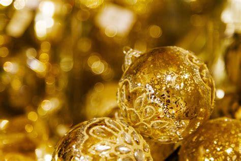 golden christmas balls  stock photo public domain pictures