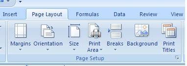 page layout menu in excel elearning tik cara mengatur halaman pada microsoft excel 2007