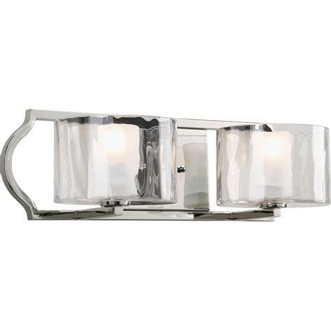 Polished Nickel Bathroom Lighting Progress Lighting Collection 4 Light Brushed Nickel Bath Light P3164 09 The Home Depot