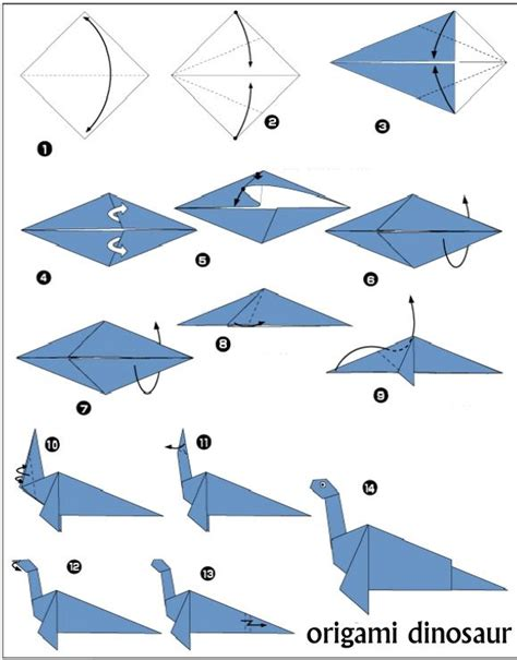 Origami Dinosaur Diagram - 25 best ideas about easy origami on origami