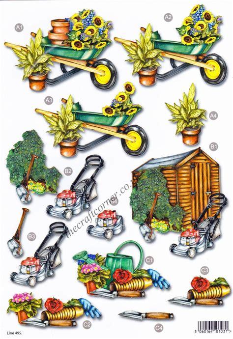 3d Decoupage - garden shed die cut 3d decoupage sheet