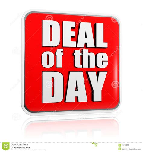 day deals deal of the day banner stock image image of offer